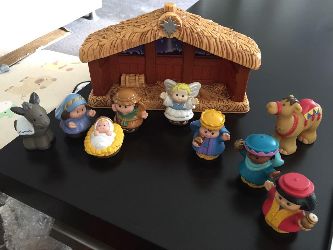 Preloved Fisher Price Little People Christmas Nativity collection great gift