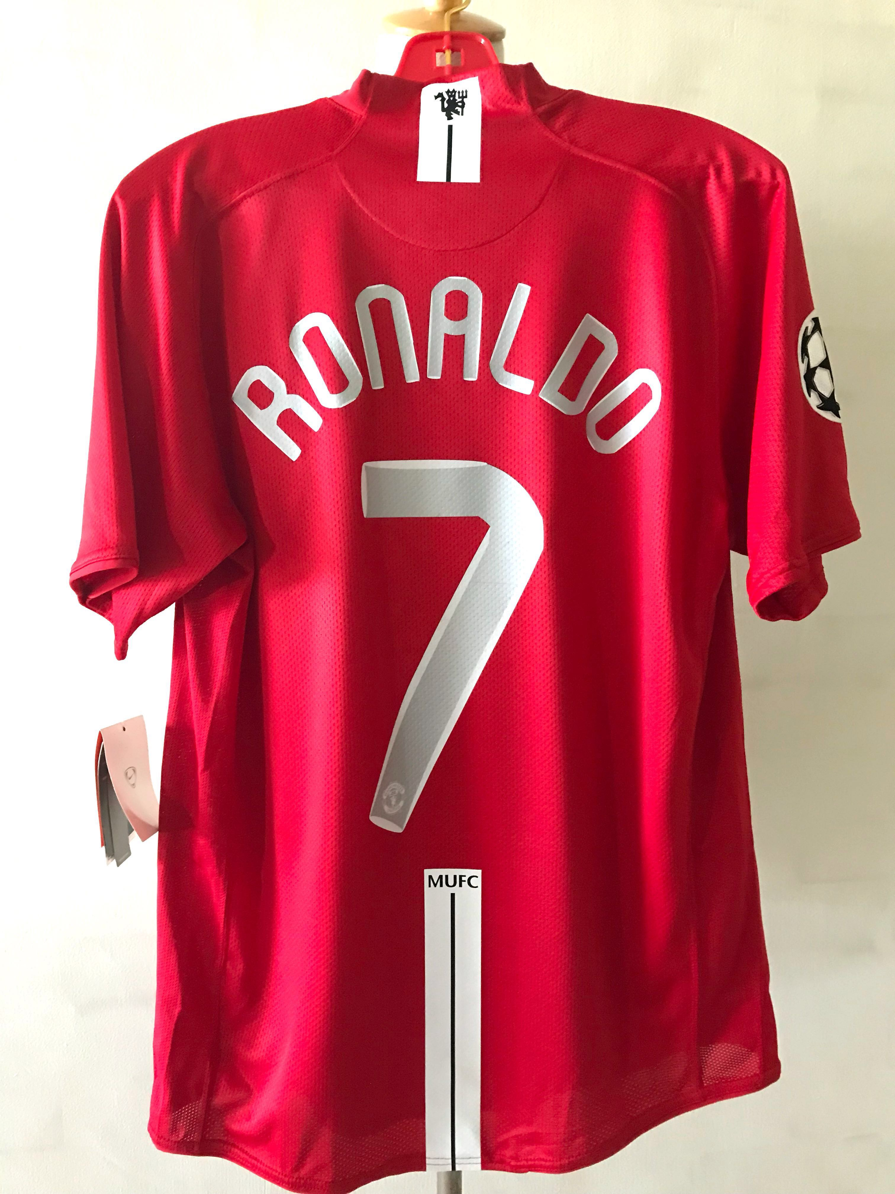 2868c89746d Ronaldo Manchester United CL Final Jersey 2008, Sports, Sports Apparel on  Carousell