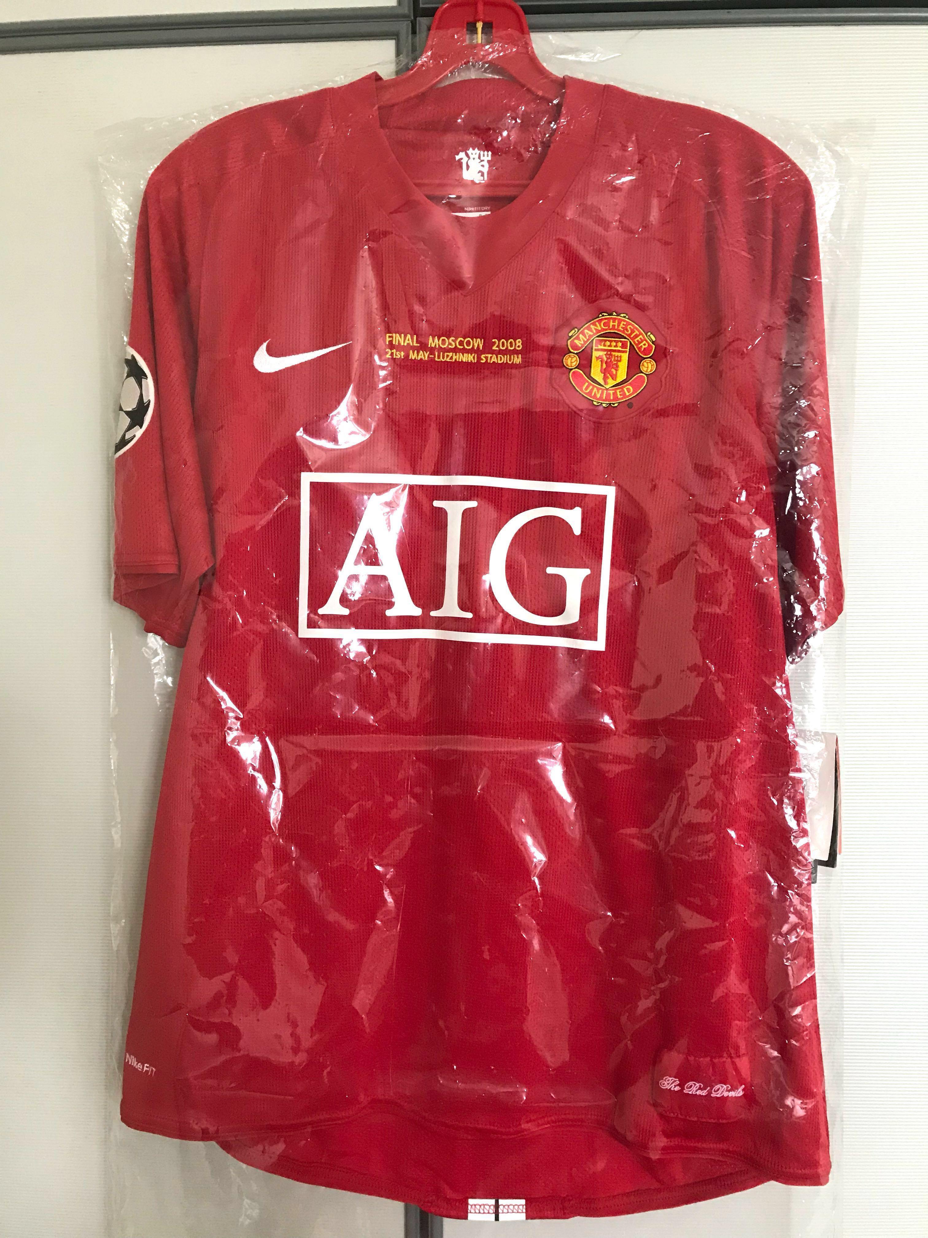 size 40 8d5c5 ce88b Ronaldo Manchester United CL Final Jersey 2008, Sports ...