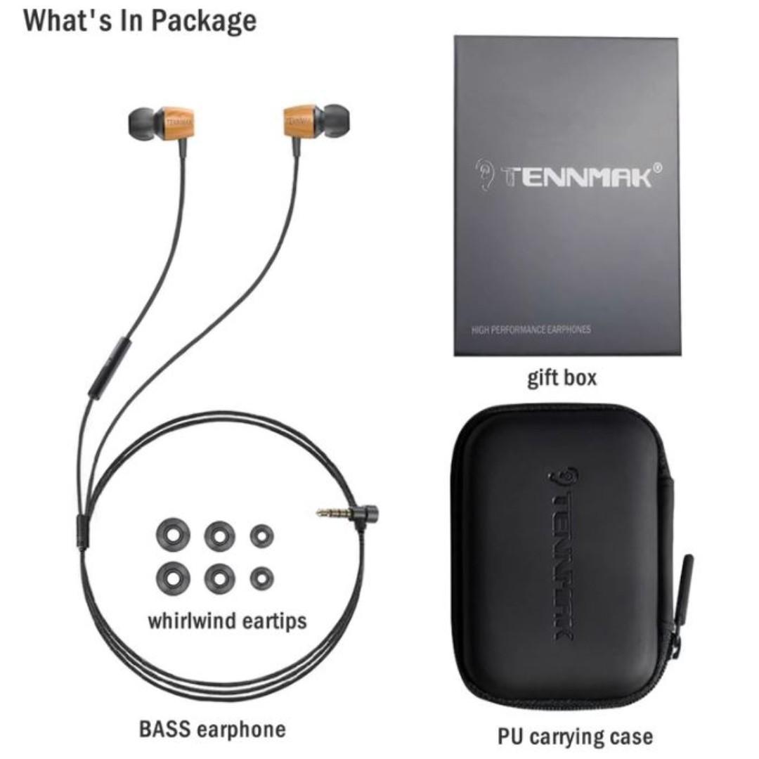 Tennmak Wood Bass earpiece