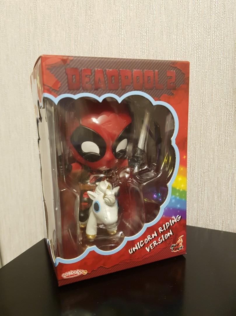S Bobble-Head Hot Toys COSB511 Deadpool 2 Deadpool Unicorn Riding Cosbaby