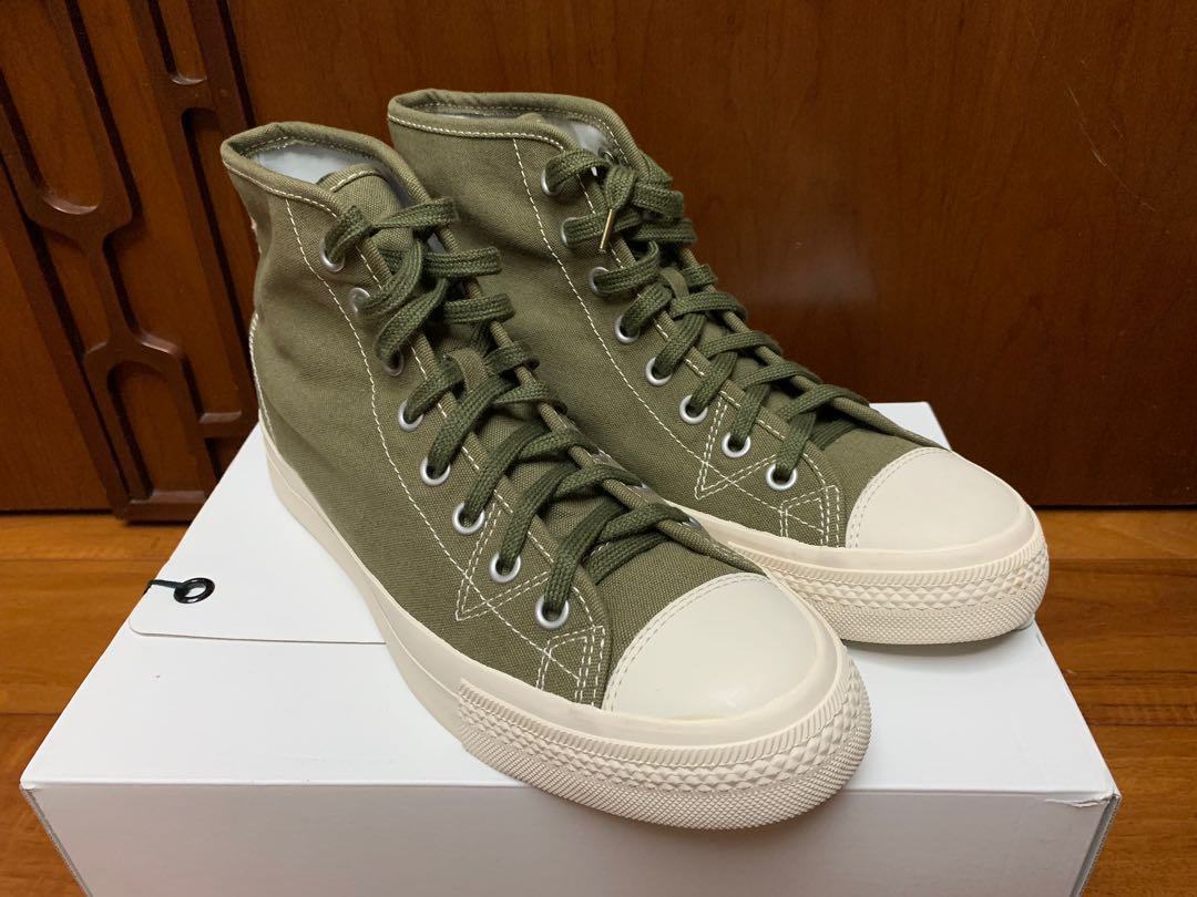 sports shoes f0d58 0e3a0 Visvim Skagway Hi Olive US11, Men s Fashion, Men s Footwear on Carousell