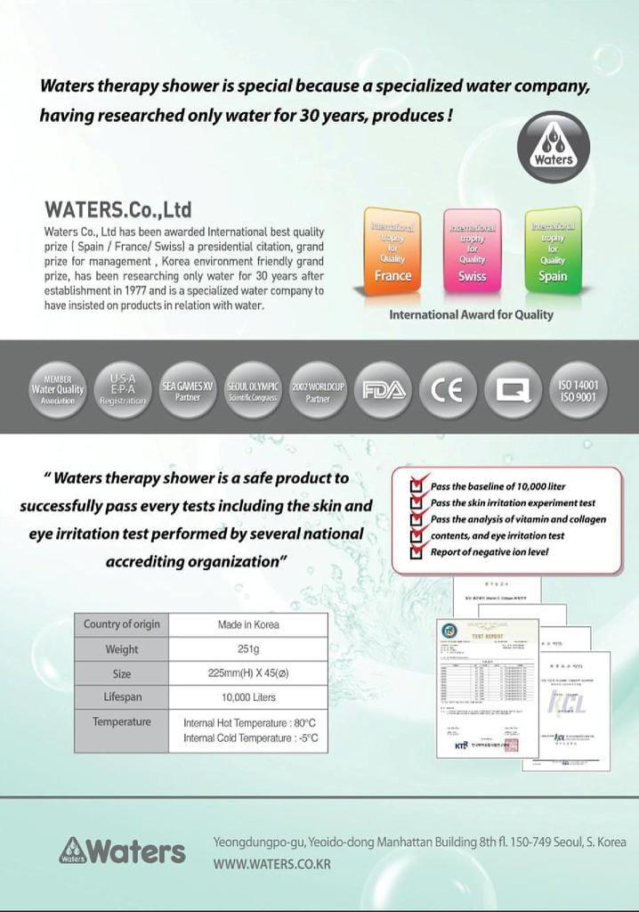WATERS Therapy Shower (Original from Korea)