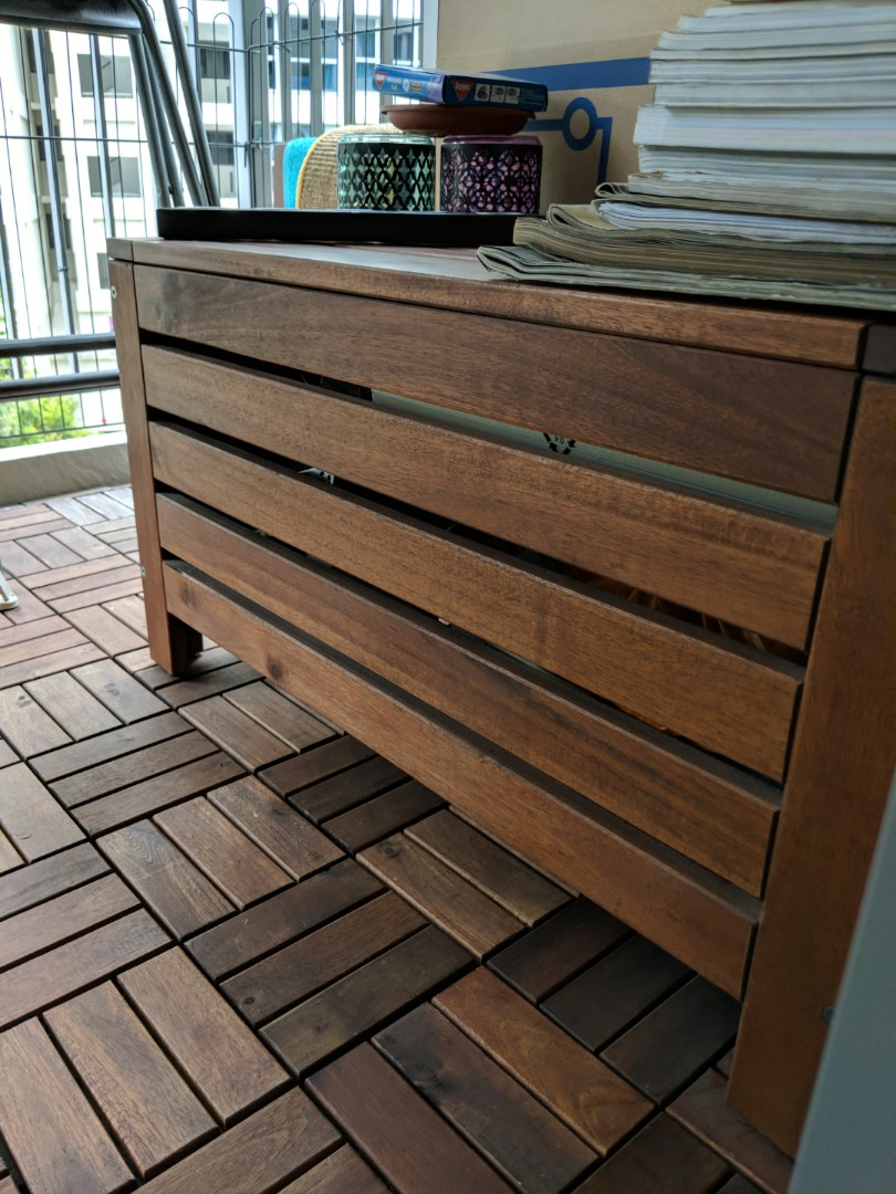 Wooden Storage Bench Furniture Tables Chairs On Carousell