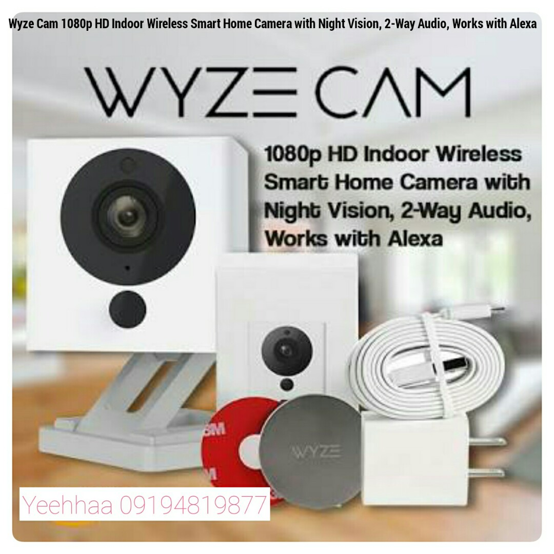 Wyze Cam 1080p Hd Indoor Wireless Smart Home Camera With Night Vision 2 Way Audio Works With Alexa Electronics Others On Carousell