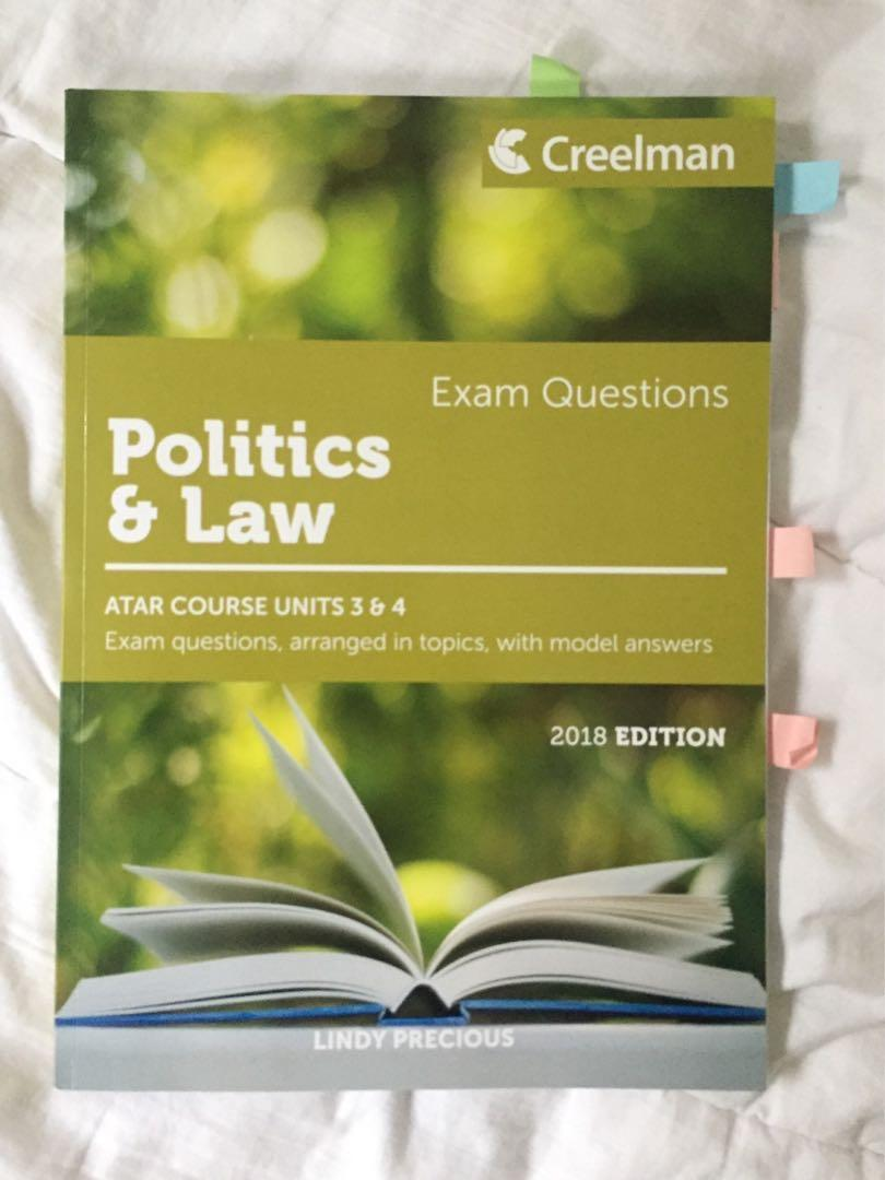 YEAR 12 POLITICS AND LAW TEXTBOOKS - Power, Accountability and Rights, Creelman 2018