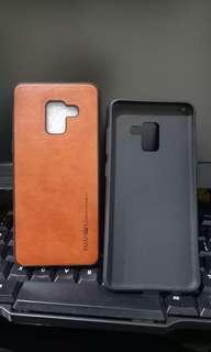 Leather case Samsung A8 2018