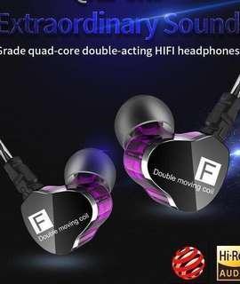Hi Res 4 drivers earphone