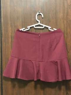 Forever 21 Maroon Skirt