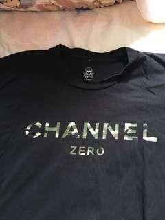 Ssur Channel Zero軍綠字短袖tee (大碼)