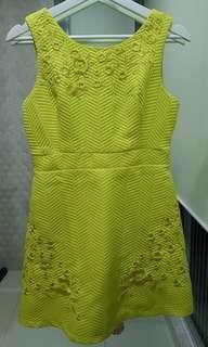 Dress kuning lemon