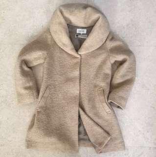 Wool Jacket Long Jacket Italy Fabric Khaki color