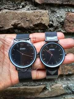 Jam tangan skmei romania couple original