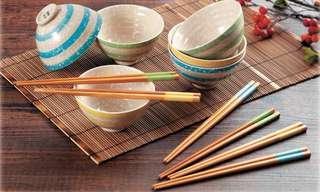 Amway雪印梅花陶瓷碗筷套裝