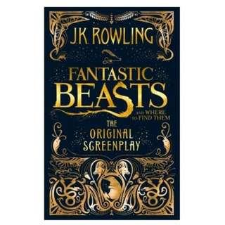 🚚 Brand New Fantastic Beasts and Where to Find Them : The Original Screenplay Paperback Hardcover