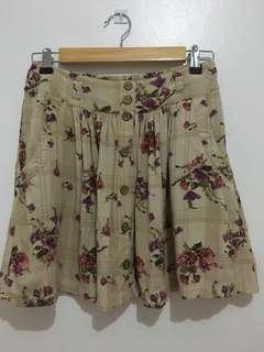 F21 Floral Cotton Skirt