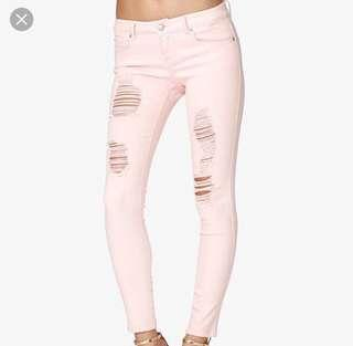Forever 21 Low Rise Ripped Skinny Jeans #SBUX50 #EVERYTHING18