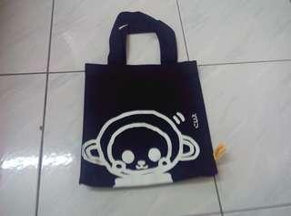 Monkey cartoon tote bag cotton