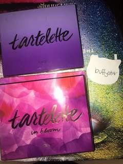 tarte tartelette, tartelette in bloom and toasted eyeshadow palettes