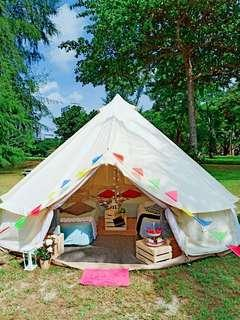 Wowcamp tent/glamping/party/birthday booking service for 6pax