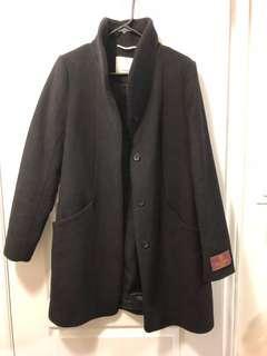 WILFRED COCOON COAT BLACK