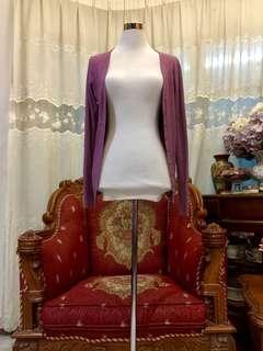 Dusty Purple Cardigan Cotton