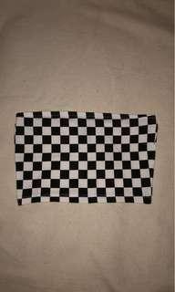 Checkered bandeau top