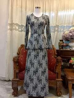 Peplum Long Dress Onepiece