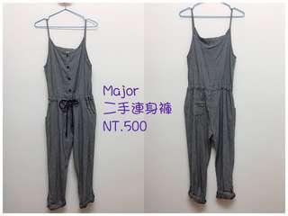 🚚 Major made 針織吊帶褲