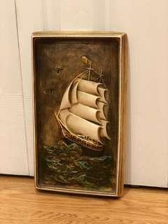 3D Vintage Tall Ship Tile