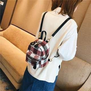 Korea Lovely Wool Backpack Wanita
