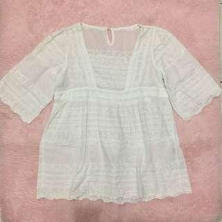 Embroidered top large