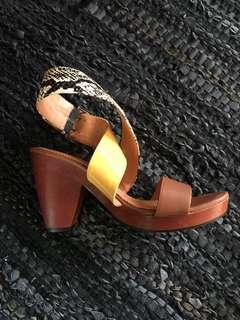 Gorman Ankle Wrap Heel - Platform