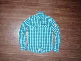 Kemeja Pria Esprit Checkered Shirt not Uniqlo H&M Zara Man