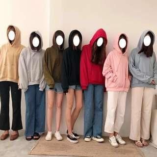 [PO] 7 Colours Slight Oversized Hooded Sweatshirt