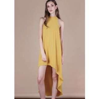 TTR Brielle Fishtail dress in Honey