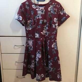 Fayth Floral Skater Dress