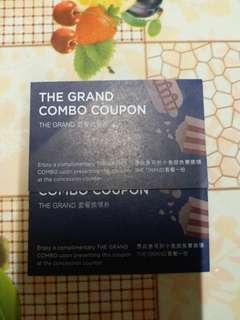 【包郵】the Grand 小食套餐換領劵 2張戲院電影 $120