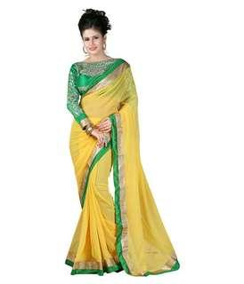 Saree with short sleeve blouse