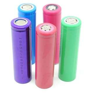 Baterai Vape vaporizer 18650 sanyo LG senter swat lithium 2000 mAh