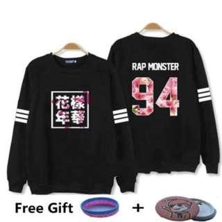 kpop Bangtan Boys Kpop BTS Women Hoodies Sweatshirts Letter Printed in J-HOPE 94 and SUGA 93 Women xxxl Hoodies