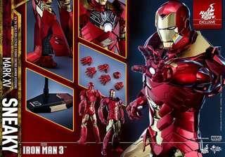 🗼[全新現貨啡盒未開]Hottoys Mark 15 XV Sneaky (Retro Armor Version) MMS396 Ironman 3 鐵甲奇俠