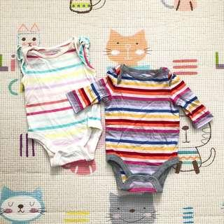 Baby Gap Striped Onesies (Bundle)