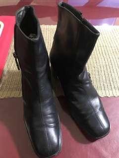 Salvatore Ferragamo Black Boots/ Booties
