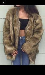 Top shop faux fur coat PRICE REDUCED