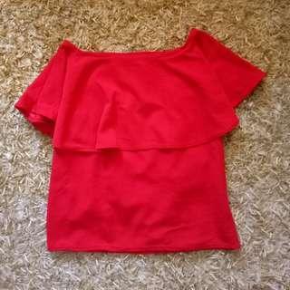 Red nursing blouse