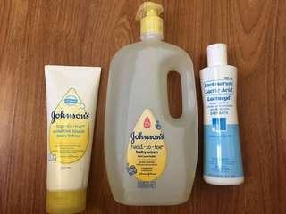 Sealed Johnsons top to toe baby wash (ONLY) 1 liter