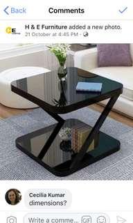 Glossy side table