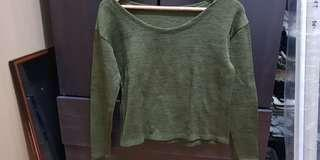 Army Green Knitted longsleeves