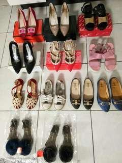 Flat / high heels / sepatu
